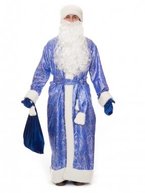 Костюм Деда Мороза Южный синий
