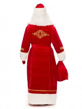 Костюм Деда Мороза с вышивкой красный