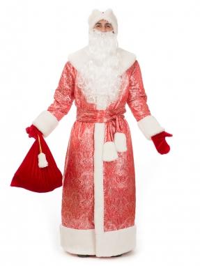 Костюм Деда Мороза Восточный красный (на подкладке) фото 2