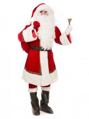 Костюм Санта Клауса канадский + очки и колокольчик в подарок