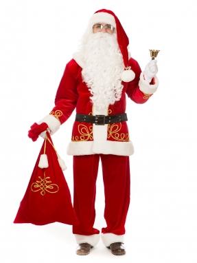 Костюм Санта Клауса элитный с вышивкой