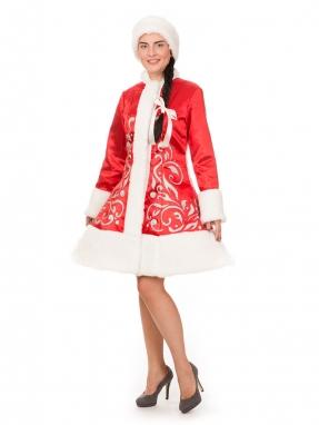 Красный костюм Снегурочки Сказка с унтами в подарок