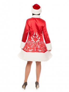 Красный костюм Снегурочки Сказка с унтами в подарок фото 2