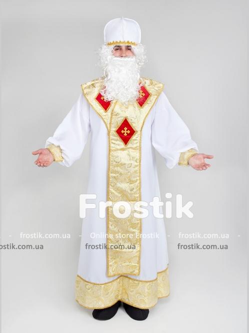 Золотой костюм Святого Николая с шапкой эконом