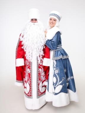 Боярский костюм Снегурочки (муфта в подарок) фото 2